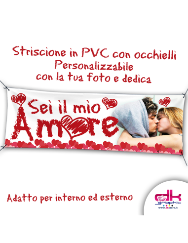 Striscione Love mt.1,90x0,95 - Gadget Personalizzati - dkstore